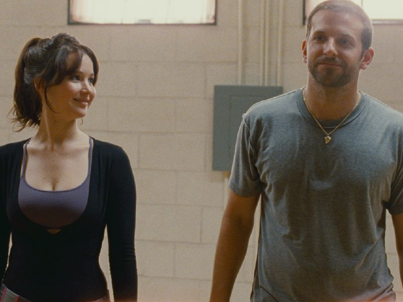 "Jennifer Lawrence and Bradley Cooper star in ""Silver Linings Playbook,"" in theaters now."