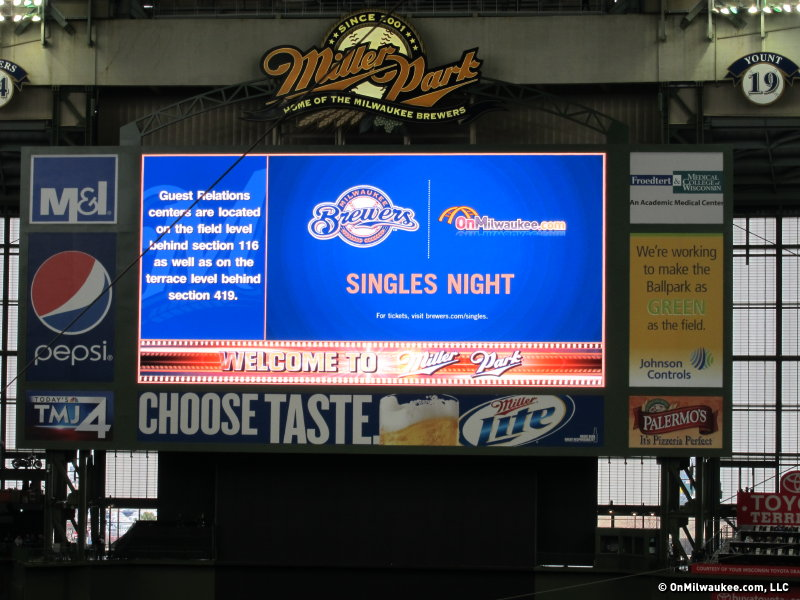 Will you meet that special someone at Miller Park?