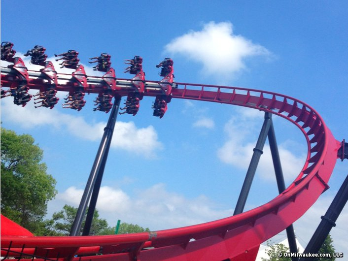 X Flight is new this summer at Six Flags in Gurnee, Ill.