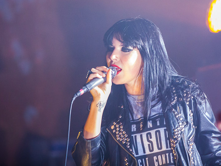 Sleigh Bells' Alexis Krauss sings Wednesday night at Turner Hall.