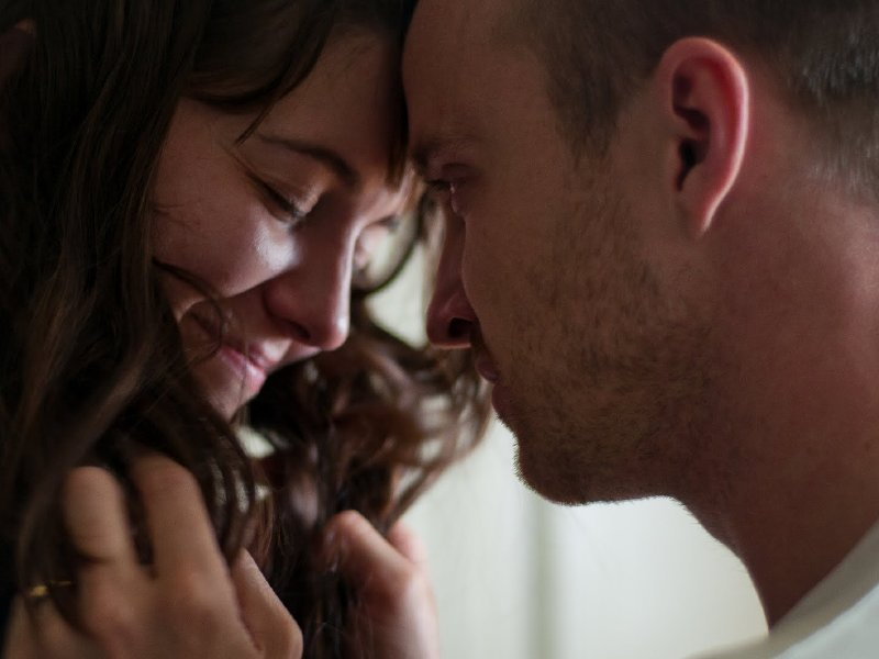 "Mary Elizabeth Winstead and Aaron Paul in ""Smashed,"" in theaters now."