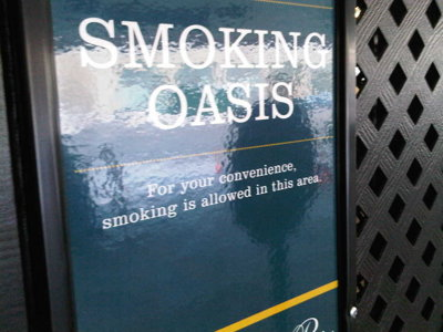 A smoking oasis pops up in Pfister parking structure
