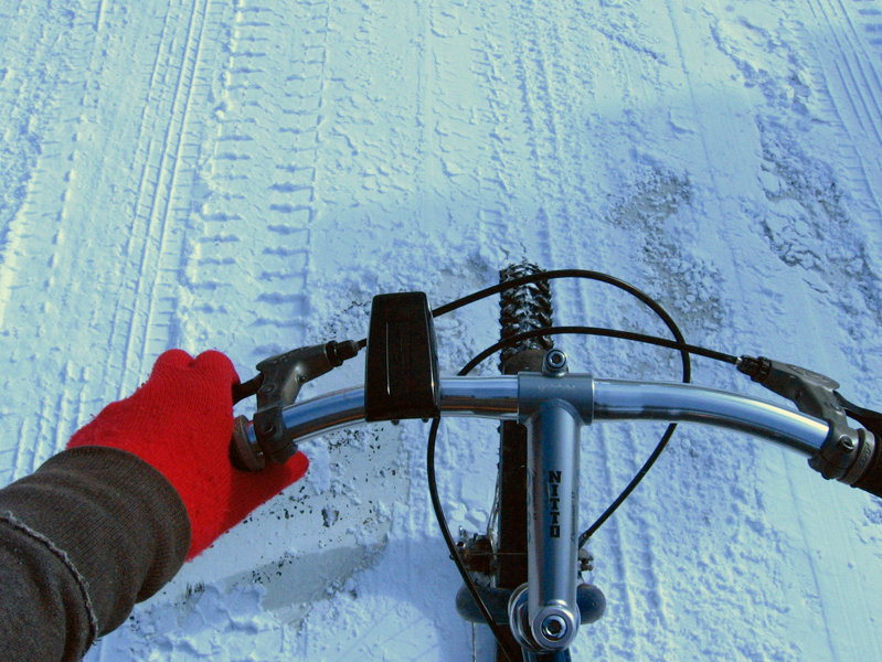 Beat the snow on a bike.
