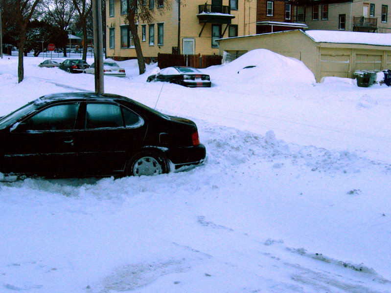 "How many of you ""car plowed"" your way out?"