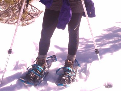 Strap on snowshoes for fun and safe winter cardio