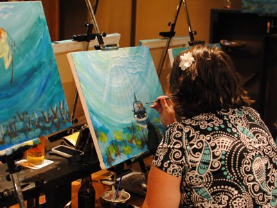 Drink, paint and be merry at the Third Ward's Splash Studio