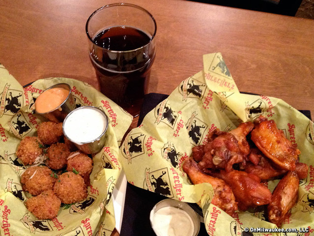Sprecher's Pub has happy hour specials on tappers and apps every day.