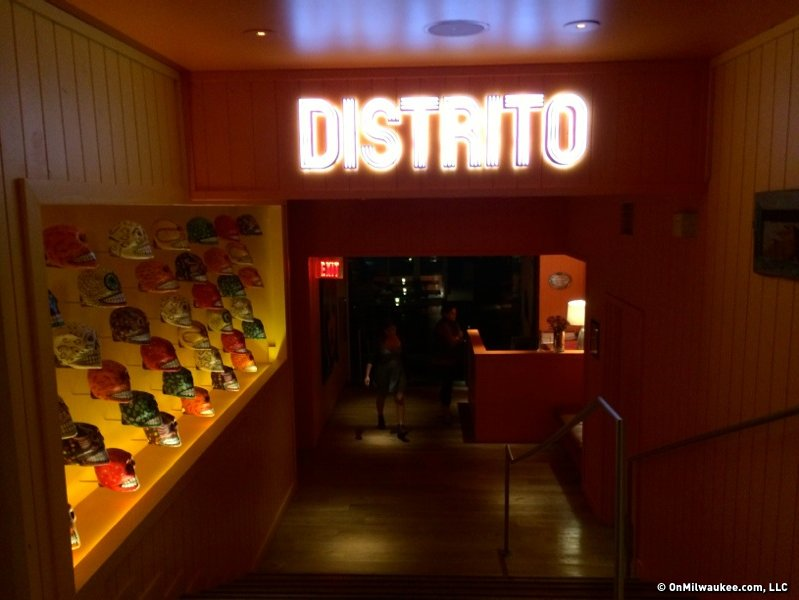 Distrito is modern, Mexican food, and it's great.