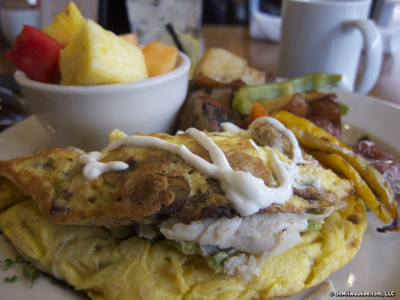 An omelet at The Breakfast Club.