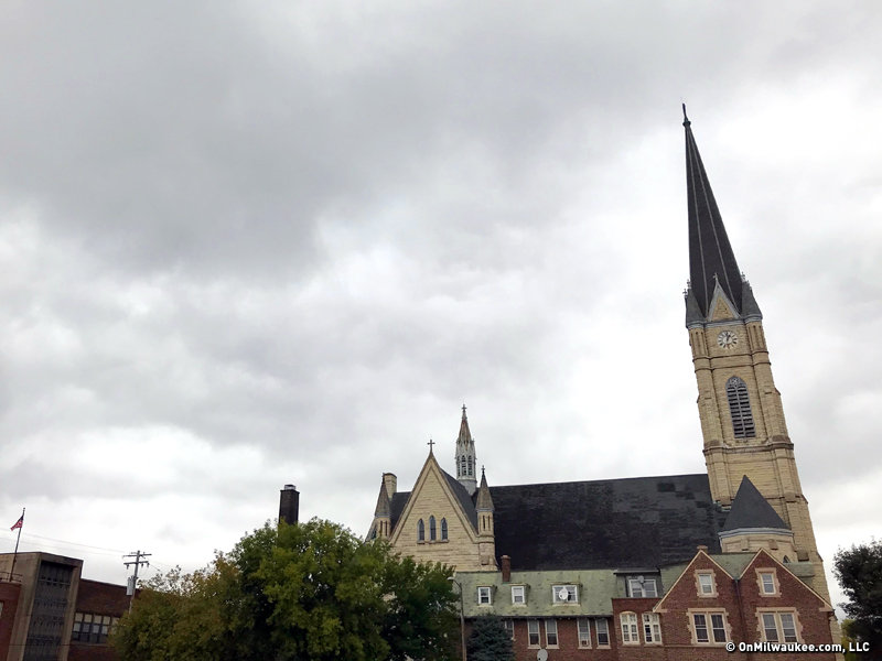 st michaels catholic church boasts the second tallest steeple in milwaukee