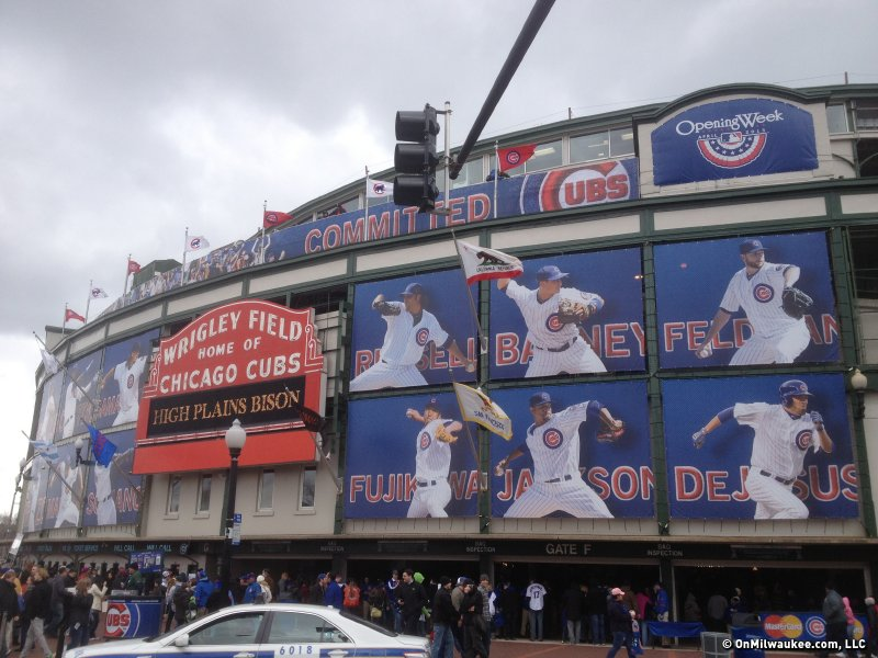 "The ""new"" exterior of Wrigley Field in Chicago."