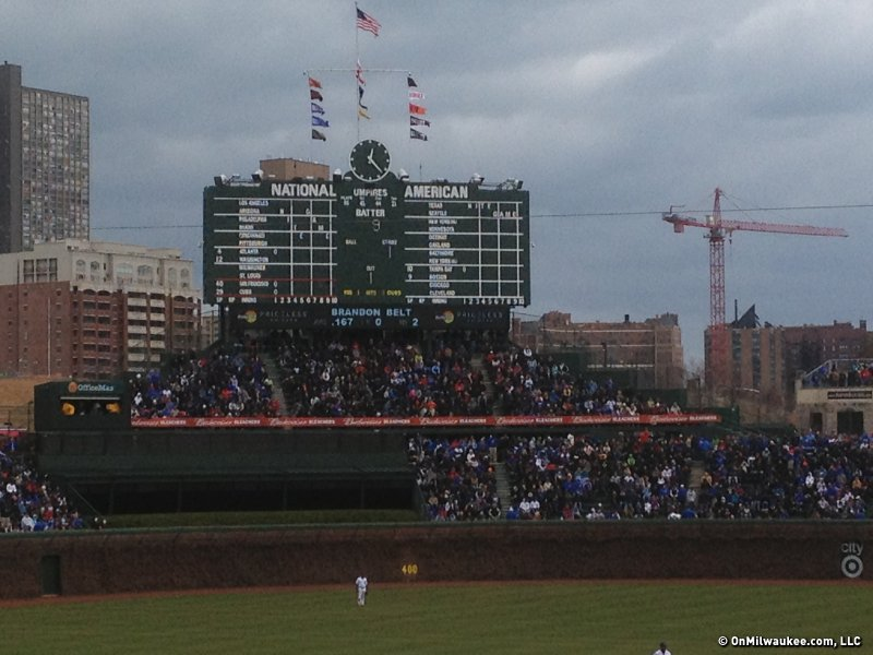 Chicago Cubs ownership would like to replace the scoreboard.