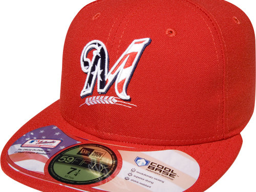 e80a66f9eaf46 The Stars and Stripes caps will be available at Miller Park and in select  retail stores.