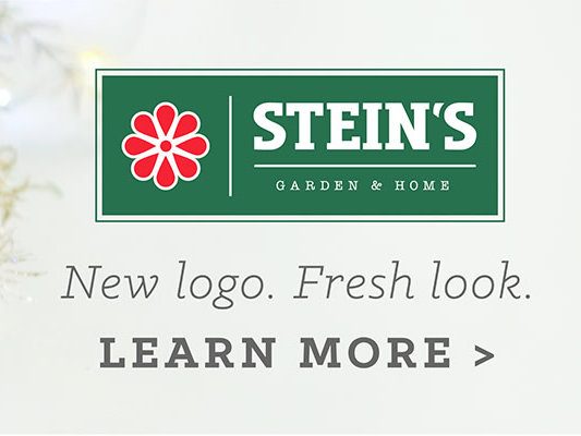 a new logo and name for steins - Steins Garden And Gifts