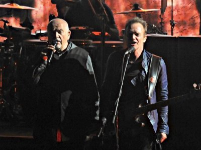 Sting and Peter Gabriel delight with synergistic collaboration