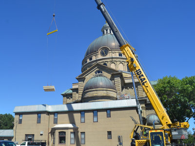 St. Josaphat gets a lift with new sandstone