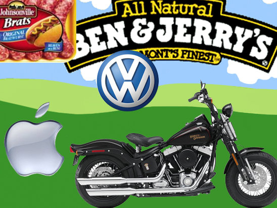 Harley, Apple, Ben & Jerrys ... all examples of branding done right.