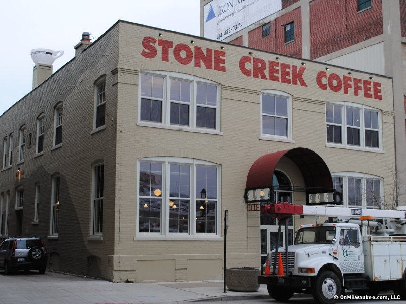 Stone Creek Factory is just a block from the Intermodal Station.