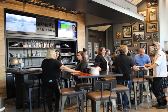 Garage Doors On The North Allow Open Air Dining Clement Days As Well Easy Access To Parking Area Where Motor Hosts Its Bike Nights Every Thursday