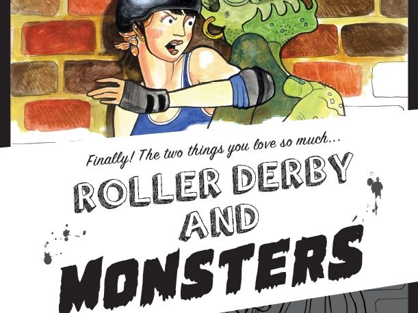 williams ng created two different coloring books roller derby and mermaids and roller derby and monsters