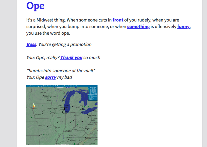 Midwesterners love this word, apparently - OnMilwaukee