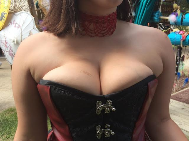 Renaissance faire cleavage