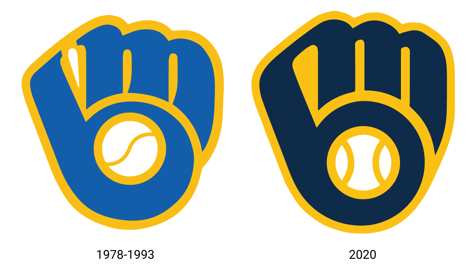 Brewers Ball and Glove Before & After