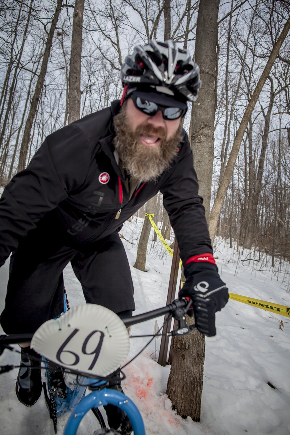 Lumberjackian styles are prevelant at fat bike races.
