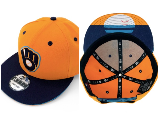 c4c39b0a353 Wear two winning looks in one with these Milwaukee flag Brewers hats ...