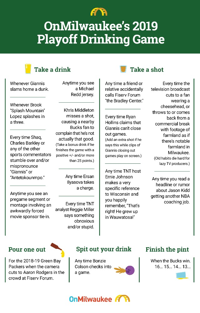 Drink In The Postseason Excitement With The Bucks Playoffs Drinking Game
