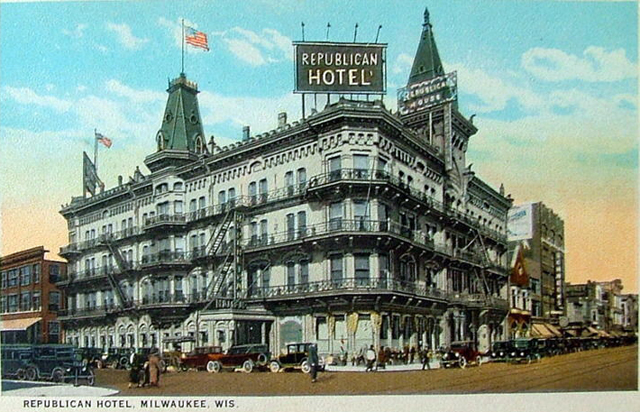 Known As The Birthplace Of Baseball S American League Which Was Organized Here In 1900 Republican House Hotel Stood On Northwest Corner 3rd And