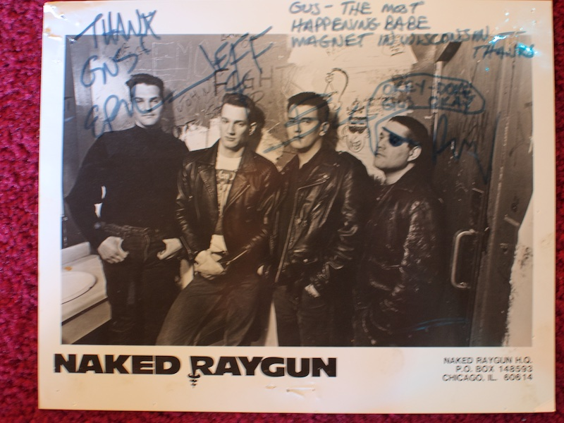 Signed glossy from Naked Raygun.