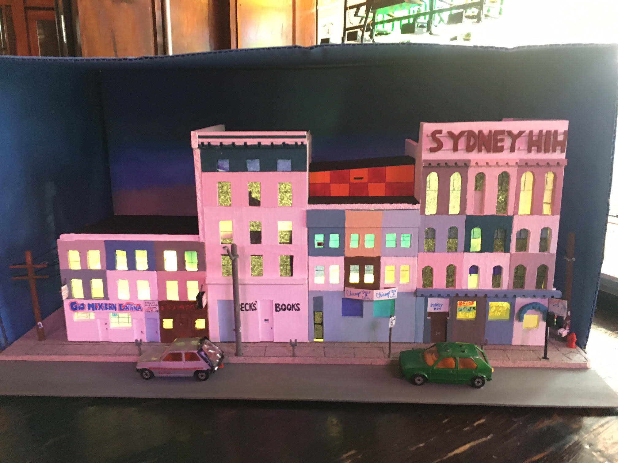 Sydney Hih diorama by Chris Tishler.