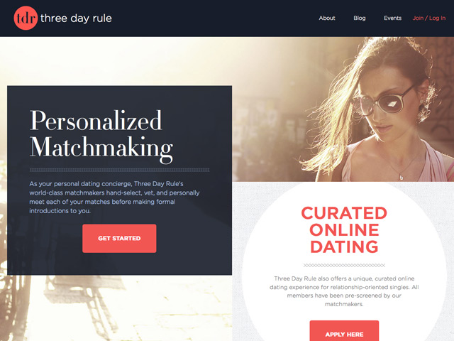 three day rule dating website