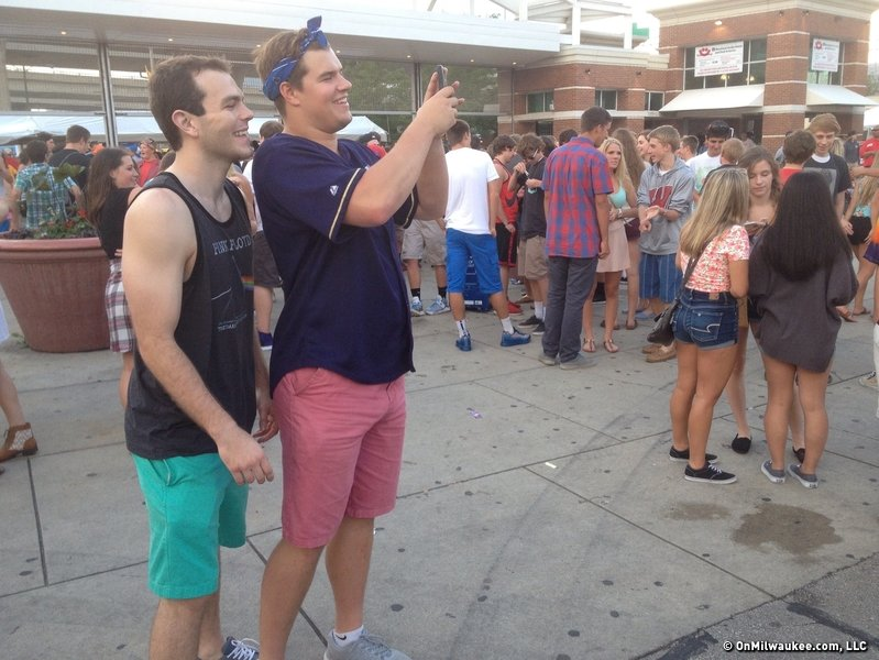 So, what's the deal with all the salmon shorts at Summerfest?