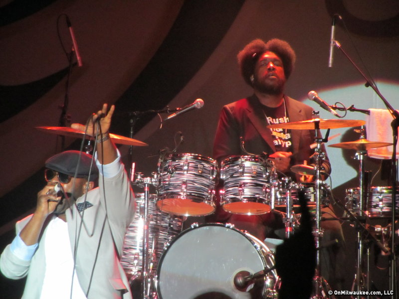 The Roots rounding members Black Thought, left, and Questlove are still going strong.