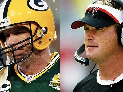 Gruden, now with ESPN, was Favre's position coach in GreenBay.