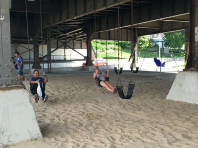 The Holton Street bridge swing park is still one of Milwaukee's hidden gems Image
