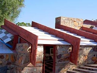 Wright's Taliesin West was his warm-weather getaway