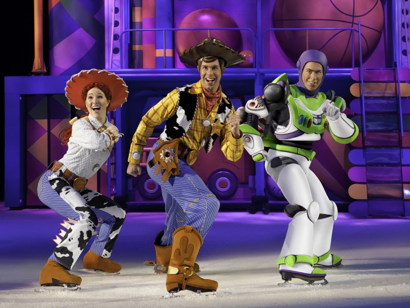 "Taylor Blair (far right) is a Madison native and has been touring with ""Disney on Ice"" for two years."