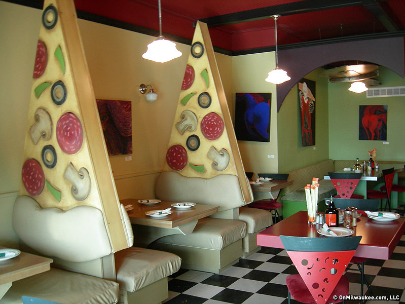 Tazza transforms the big cup into pizzeria onmilwaukee for 90s room design