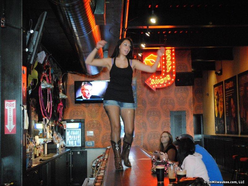 Night club amateur strip contest