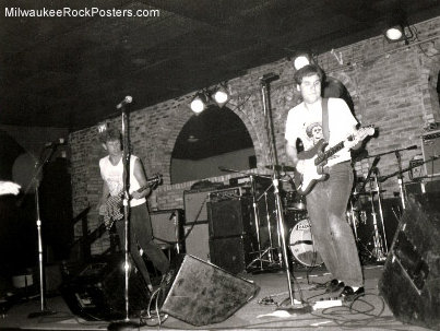 Terry Tanger (right) performing with the X-Cleavers at Shank Hall in 1990.