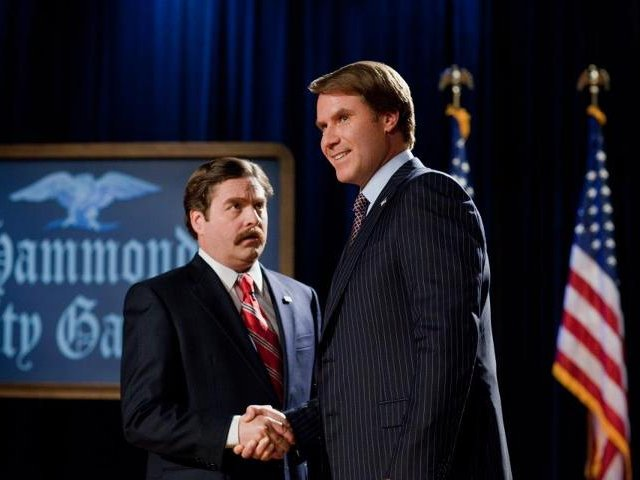 "Zach Galifianakis and Will Ferrell star in ""The Campaign,"" in theaters now."