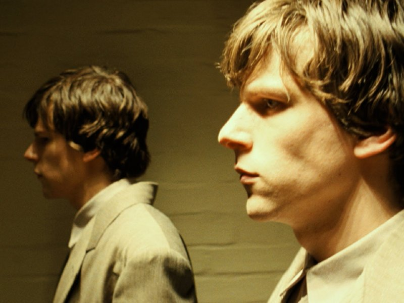 "Jesse Eisenberg and Jesse Eisenberg star in Richard Ayoade's ""The Double."""