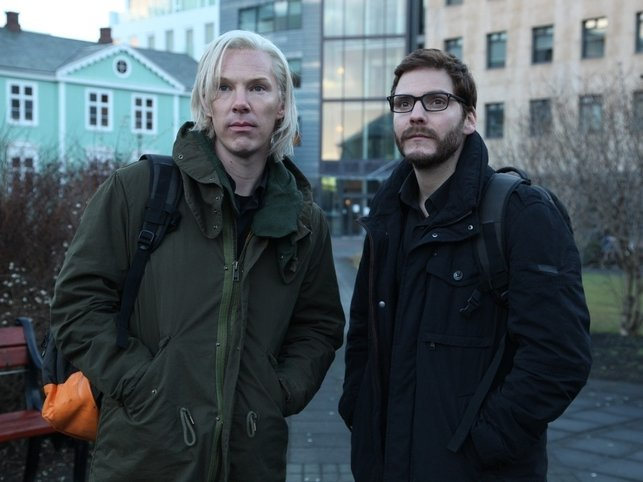 "Benedict Cumberbatch and Daniel Brühl star in ""The Fifth Estate,"" now playing."