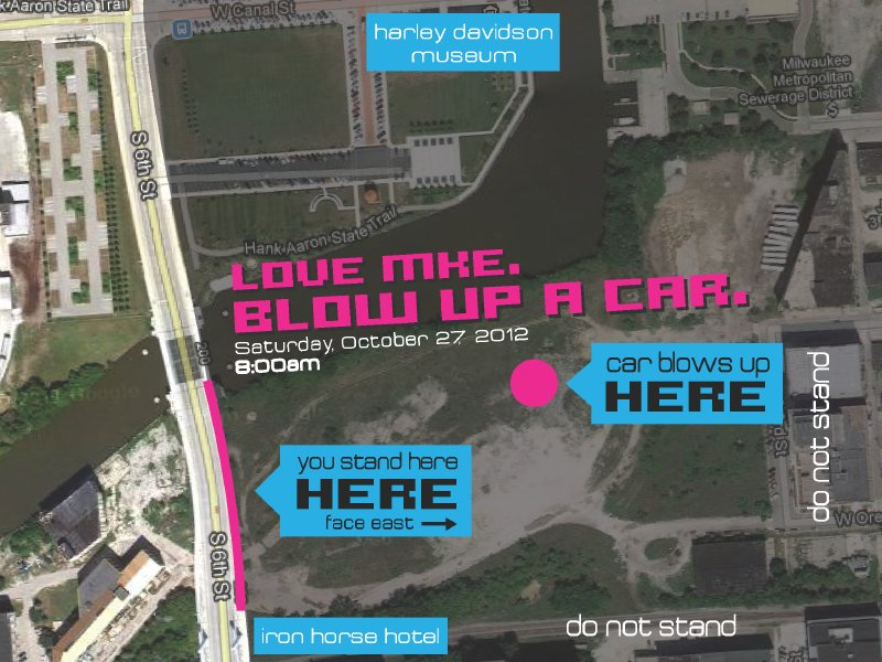 This map shows you exactly where to go to see the explosion. Spectators are promised a great view.