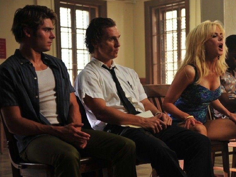 "Zac Efron, Matthew McConaughey and Nicole Kidman in ""The Paperboy."""