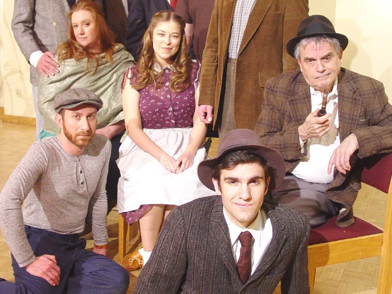 "The cast of Windfall Theatre's production of ""The Petrified Forest."""