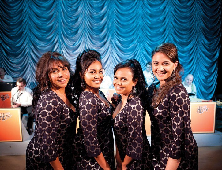 "Deborah Mailman, Jessica Mauboy, Miranda Tapsell and Sheri Sebbens make up ""The Sapphires,"" now playing."